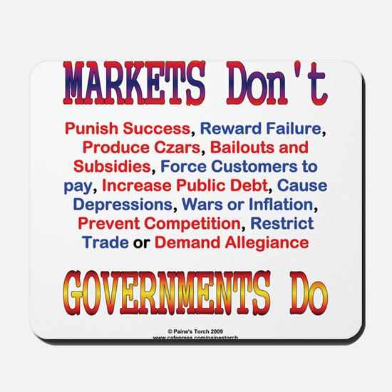 Markets and Governments Mousepad