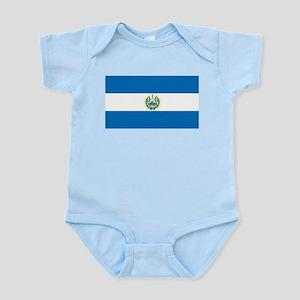 El Salvador Flag Infant Creeper