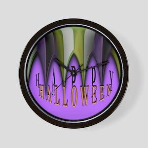 Purple Halloween Teeth Wall Clock