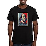 NO CHANGE Men's Fitted T-Shirt (dark)