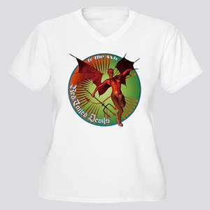Red Tailed Devils Women's Plus Size V-Neck T-Shirt