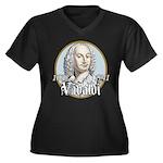 Antonio Vivaldi Women's Plus Size V-Neck Dark T-Sh