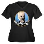 Tchaikovsky Women's Plus Size V-Neck Dark T-Shirt