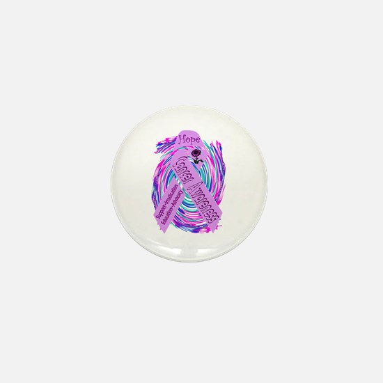 Cancer Awareness and Support Mini Button
