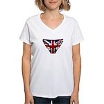 Union Jack Underwear Print Women's V-Neck T-Shirt