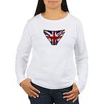 Union Jack Underwear Print Women's Long Sleeve T-S
