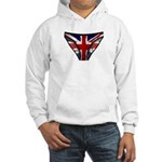 Union Jack Underwear Print Hooded Sweatshirt