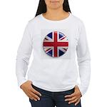 Round Union Jack Women's Long Sleeve T-Shirt