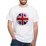 Round Union Jack White T-Shirt