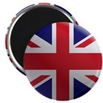 Round Union Jack Magnet