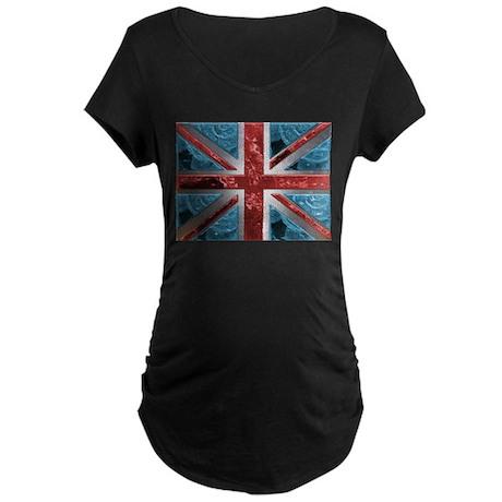 Liquid Money Union Jack Maternity Dark T-Shirt
