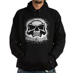 Spray Painted Skull Hoodie (dark)
