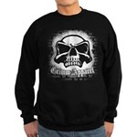 Spray Painted Skull Sweatshirt (dark)
