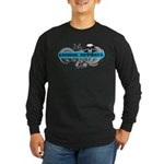 Grimm Apparel's Blue Logo Long Sleeve Dark T-Shirt