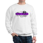 Grimm Apparel's Purple Logo Sweatshirt