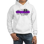 Grimm Apparel's Purple Logo Hooded Sweatshirt