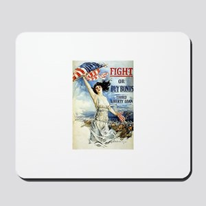 Vintage WWII Poster Mousepad