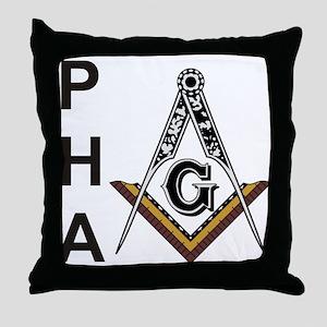Prince Hall Square and Compass Throw Pillow