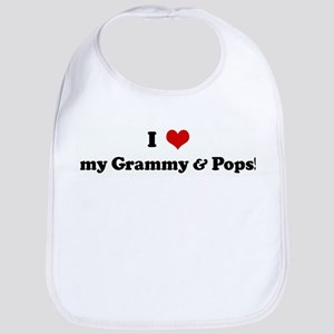 I Love my Grammy & Pops! Bib