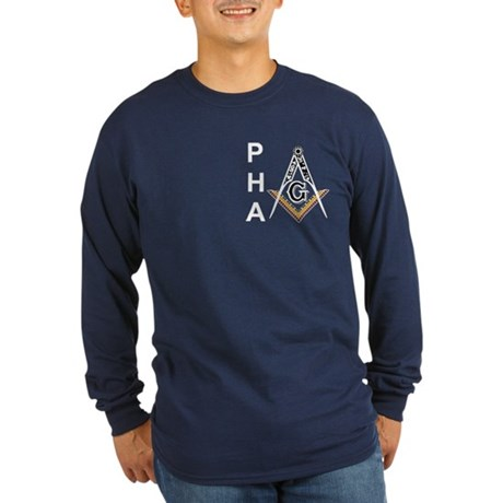Prince Hall Square and Compass Long Sleeve Dark T-