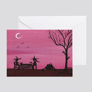 Friendship Fly Witch Greeting Card