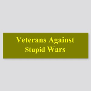 Veterans Against Stupid Wars Bumper Sticker