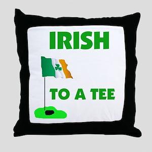 IRISH UP TO PAR Throw Pillow