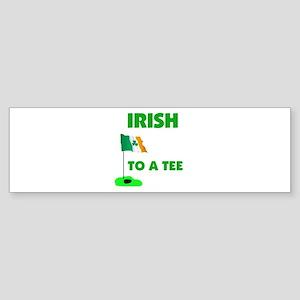 IRISH UP TO PAR Bumper Sticker