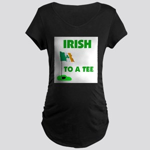 IRISH UP TO PAR Maternity Dark T-Shirt
