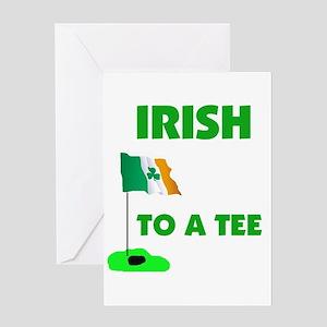 IRISH UP TO PAR Greeting Card
