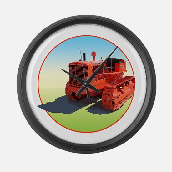 Allis chalmers tractor Large Wall Clock