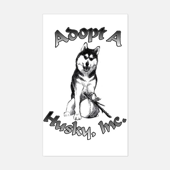 Adopt A Husky Decal