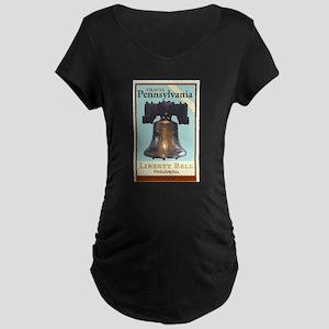 Travel Pennsylvania Maternity Dark T-Shirt