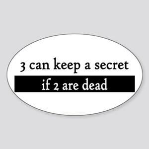 Secret Oval Sticker