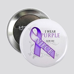 "I Wear Purple for My Niece 2.25"" Button"