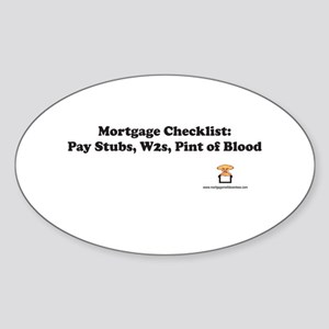 Mortgage Checklist...Blood Oval Sticker