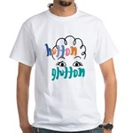 Hutton Glutton White T-Shirt