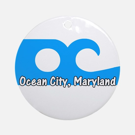 Ocean City Flag Ornament (Round)