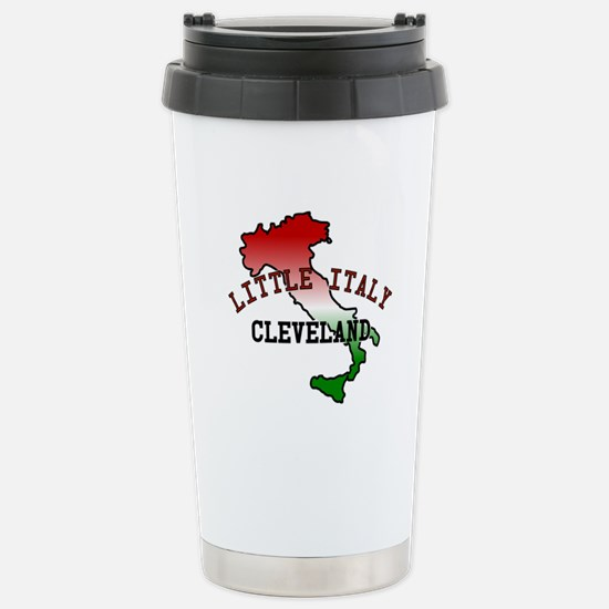 Little Italy Cleveland Stainless Steel Travel Mug