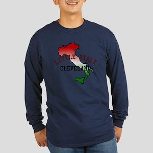 Little Italy Cleveland Long Sleeve Dark T-Shirt