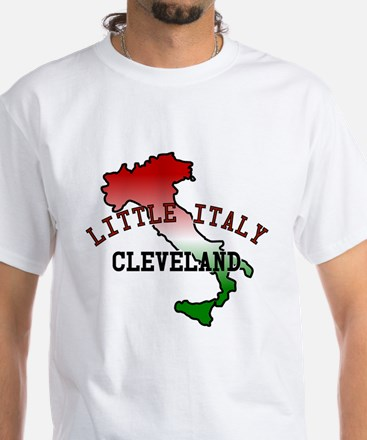 Little Italy Cleveland White T-Shirt