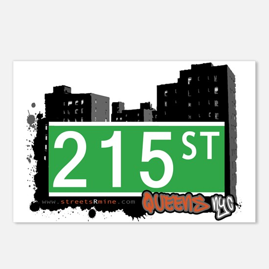 215 STREET, QUEENS, NYC Postcards (Package of 8)