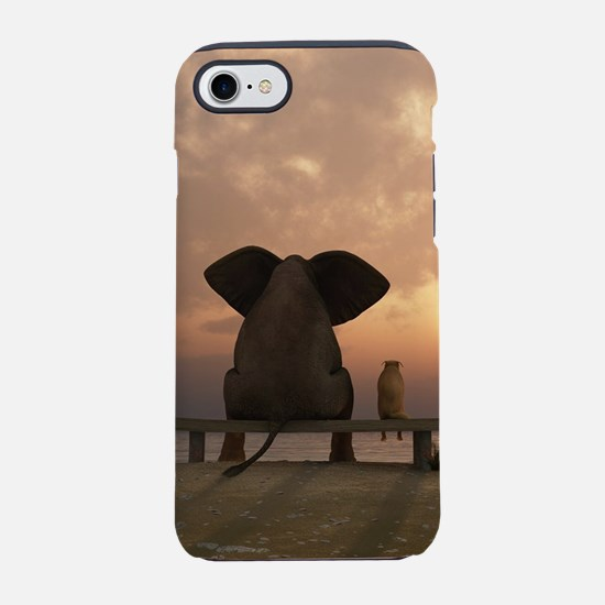 Elephant and Dog Friends iPhone 7 Tough Case