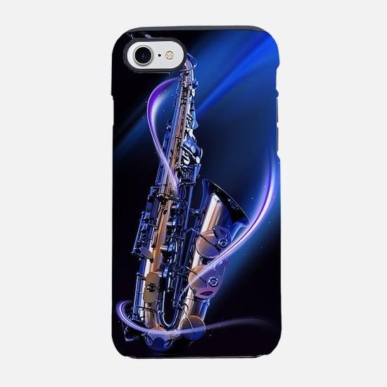 Blue Saxophone iPhone 7 Tough Case