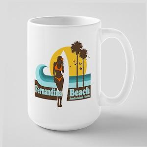 Fernandina Beach FL Large Mug