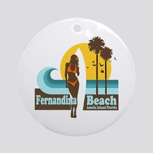 Fernandina Beach FL Ornament (Round)