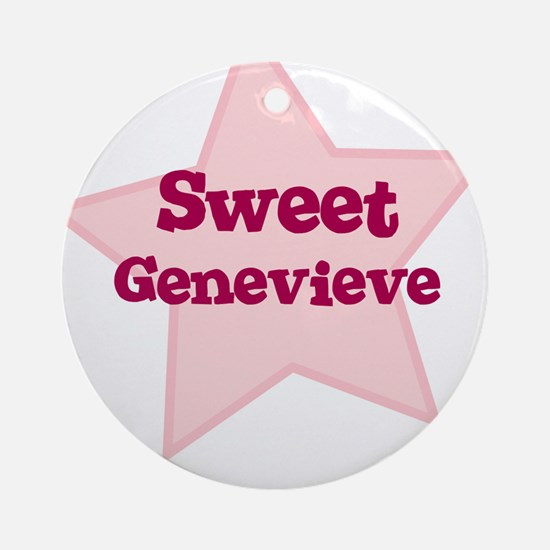 Sweet Genevieve Ornament (Round)