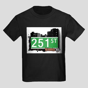251 STREET, QUEENS, NYC Kids Dark T-Shirt