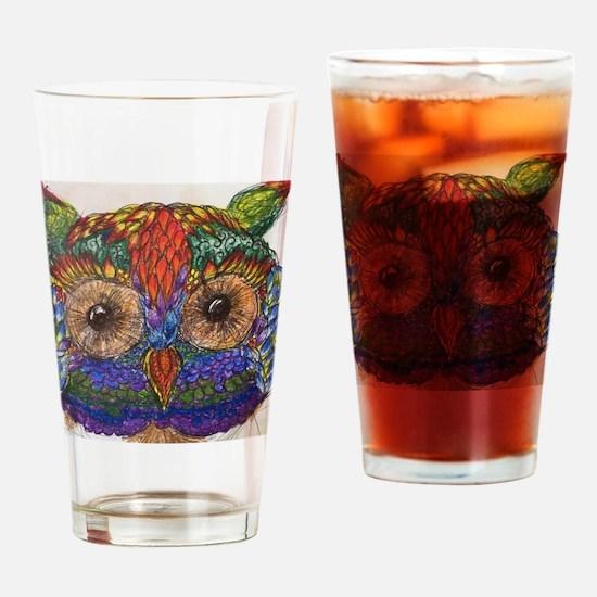 Cute Multicolored multi colored Drinking Glass