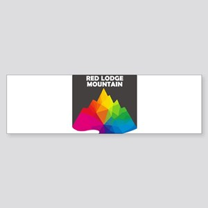 Red Lodge Mountain Resort - Red L Bumper Sticker